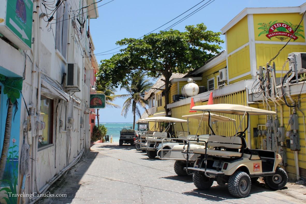 Parking Lot San Pedro, Ambergris Caye