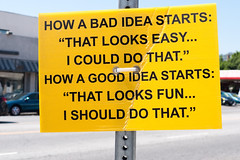 Good ivdea Vs. Bad idea (Guillermotabar) Tags: from idea good diary bad where terry come terrys ideas richarson