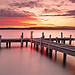 Sunset @ Lake Macquarie (stefaniebarker) Tags: sunset lake landscape pier belmont jetty australia nsw centralcoast lakemacquarie squidsink