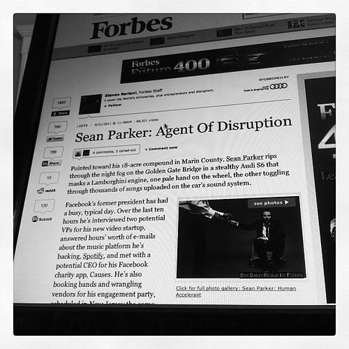 Sean Parker: Forbes Magazine