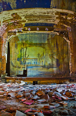 palace theater stage (Jonathon Much) Tags: old urban orange colour art abandoned rotting colors vertical architecture america canon dark tickets rust colorful theater industrial scaffolding shadows chairs theatre rehearsal pov pavement antique decay patterns stage urbandecay curtain details explorer debris watching perspective rusty indiana wideangle palace indoors urbanexploration seats rusted curtains gary rusting aged vaulted rotten dust decomposition exploration distressed destroyed functional crusty beams levels opulent decayed decaying tiers piles crumbling remembering crumbled slowexposure urbex deteriorating crusted crinkles decomposing 2011 canon7d