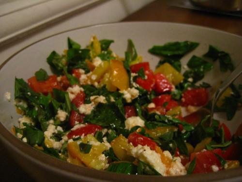ricotta-basil-tomato salad