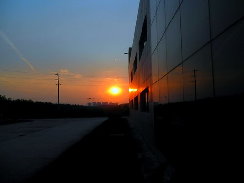 sunset at work