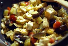 eggplant tofu dinner