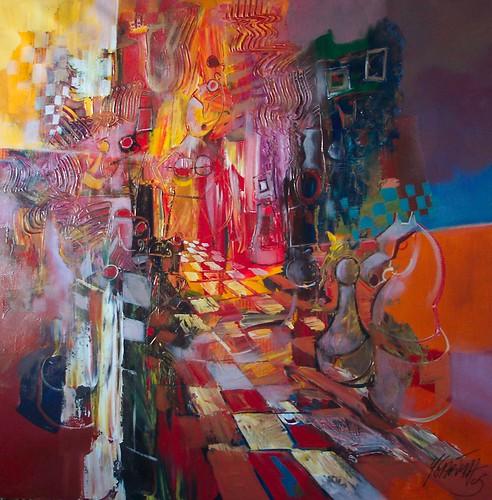 Volatile - Painting - Cubism