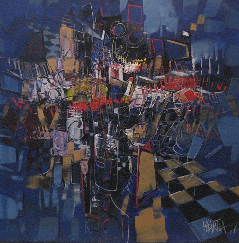 UpHill - Painting - Cubism