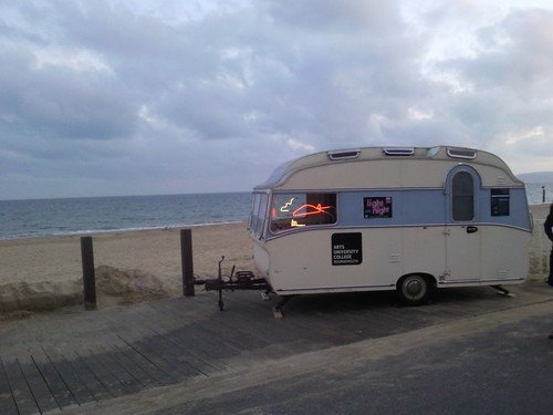 Bournemouth light nights neon caravan