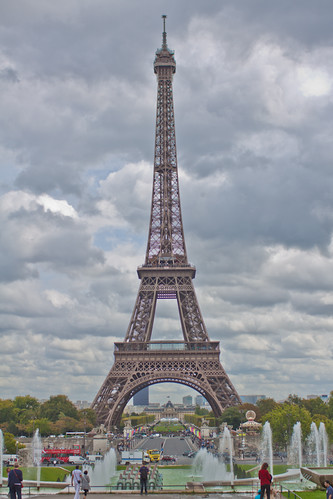 The Eiffel Tower On a Perfect Cloudy Day