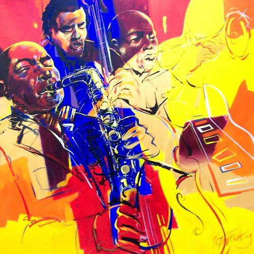 Jazz - Painting 120 x 120 cm