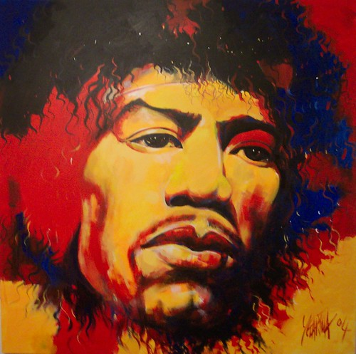 Jimi Hendrix - Painting - Portrait