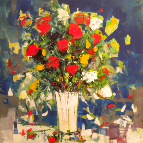 Modern Flowers - Painting - Impressionistic