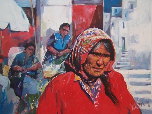 El Mercado en Mexico - Painting - Impressionism