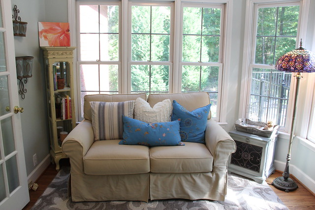 nantucket loveseat in sunroom