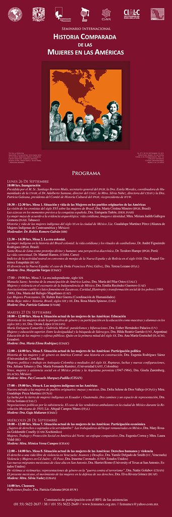 Seminario de Historia Comparada de las Mujeres en las Américas