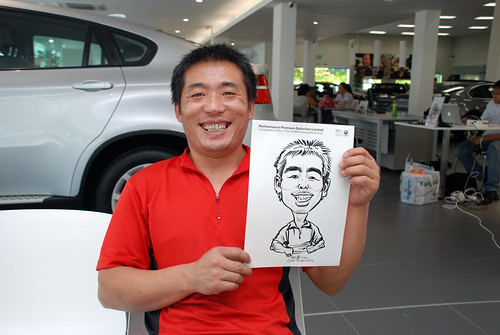 Caricature live sketching for Performance Premium Selection first year anniversary - day 4 - 8