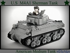 Lego ww2 -M4A1 Sherman Tank- (=DoNe=) Tags: by model tank lego made homemade american custom done sherman shemran m4a1 legoww2m4a1shermantank