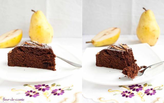 пирог шоколадно-грушевый 1