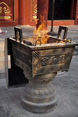 Incense Pedestal (AaronBerkovich) Tags: china temple buddha beijing monks buddhisttemple chinesetemple lamatemple yonghegong lamasery redbuildings tibetanmonks tibetanbuddhism buddhastatue yonghegonglamatemple templearchitecture mahayanabuddhism beijingyonghegongtibetanbuddhisttemple oldtemplebuildings