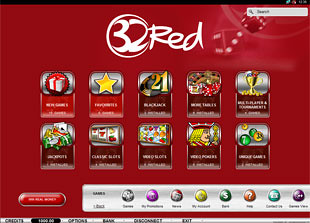 32Red Casino Lobby
