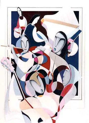Jazz Club    Painting Original
