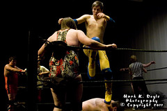No Limit Wrestling (Mark K. Doyle Photography) Tags: show ireland irish promotion theatre five anniversary no wrestling year professional co pro moat 5th limit kildare naas nlw