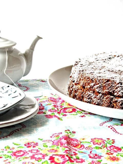 Torta di Grano Saraceno al Cioccolato con Mirtilli Rossi