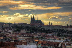 Prague at sunset (Fil.ippo) Tags: sunset castle photoshop landscape raw tramonto czech prague praha praga castello filippo hrad paesaggio topaz adjust repubblica cs4 ceca prask d5000