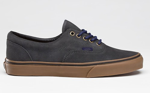 vans suede era gum sole (grey)