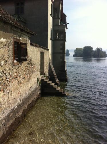 The Rhine is still very clean at Stein am Rhein