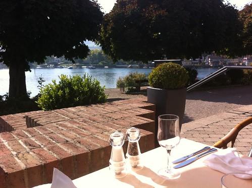 View during lunch in Stein am Rhein, Switzerland