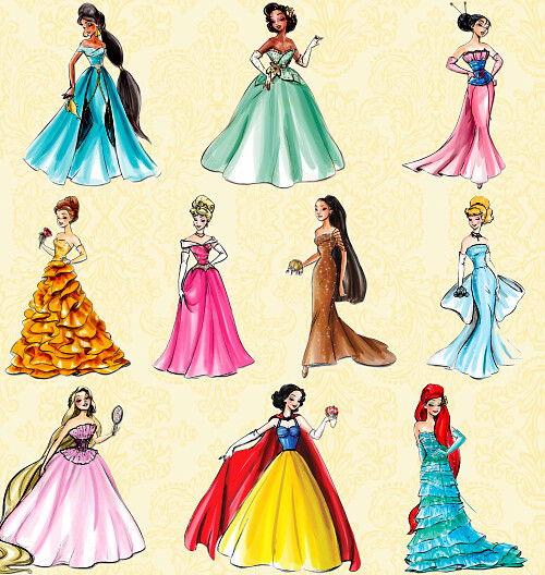 disney princess designer collection dress inspirations