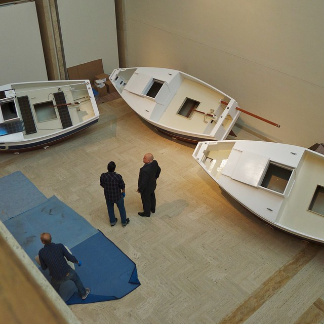 Boats at the Portland Art Museum