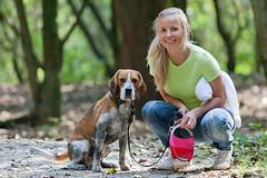 Walking with our beagle (PKirillov) Tags: dog beagle martin nati maartin