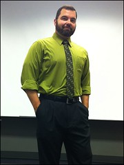 Green Shirt Thursday with Tie