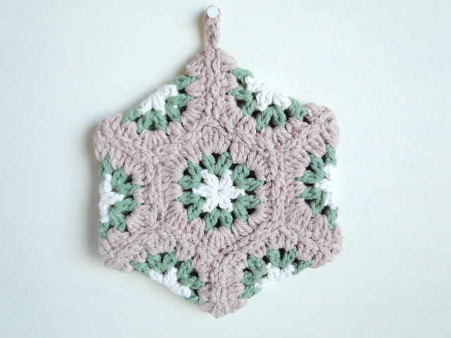 fall hexagon potholder
