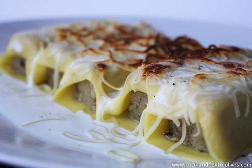 Pastel de hongos en canelón de queso gratinado (16)