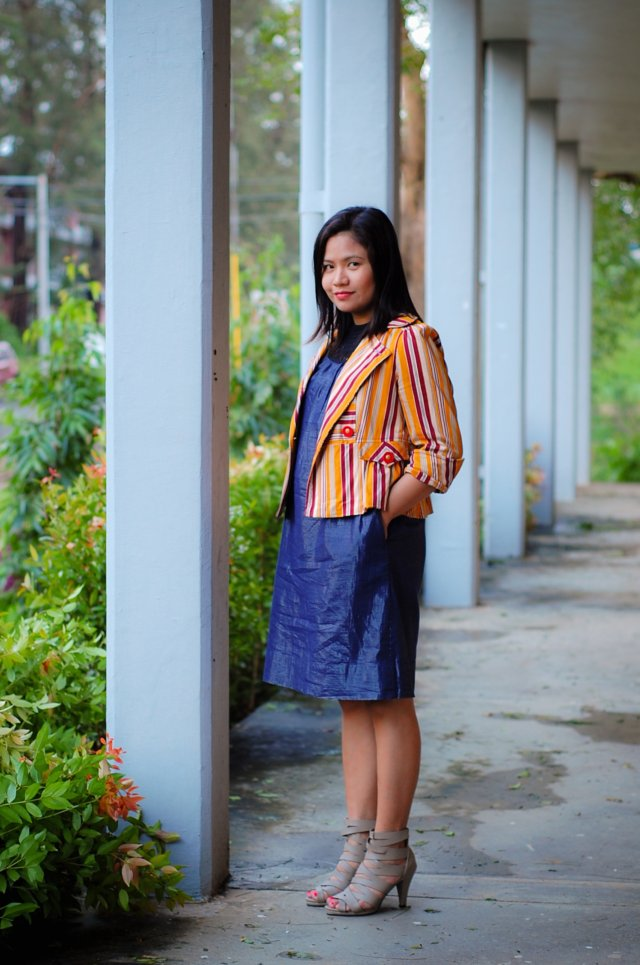 Metallic Dress, Denise Katipunera, Personal style blog, thrift finds, Primadona shoes, Budget FAshion