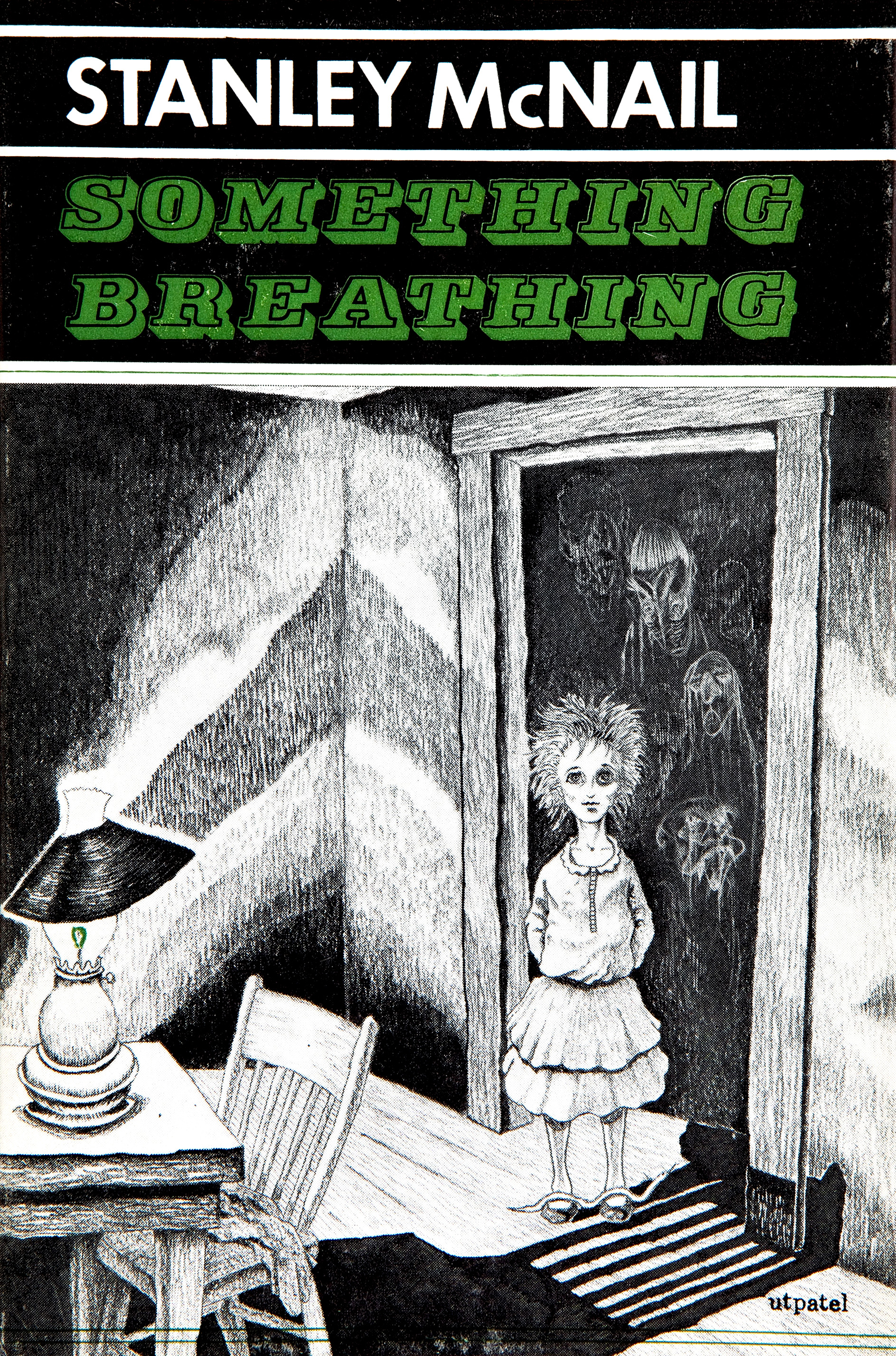 Frank Utpatel cover for Stanley McNail's Something Breathing. Arkham House, 1965