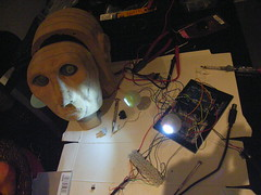 High power LED eyeballs being tested