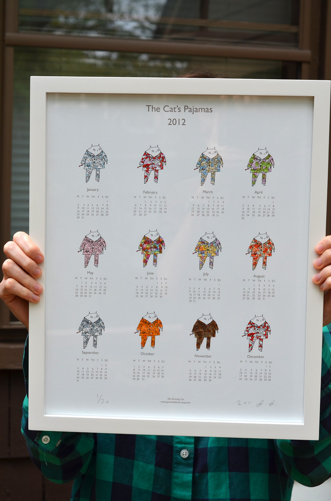 The Cat's Pajama's calendar 2012