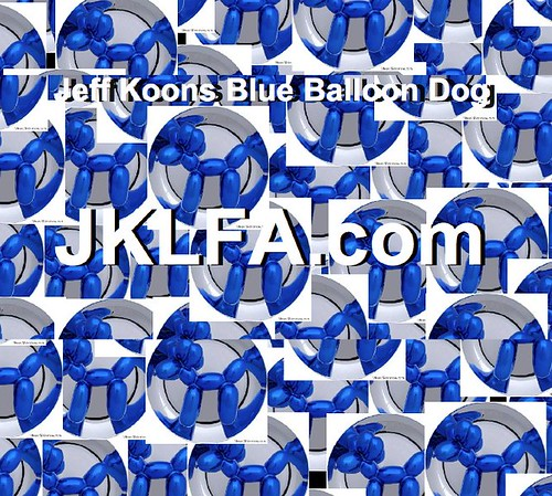 Jeff Koons Blue Balloon Dogs Available at JKLFA.com