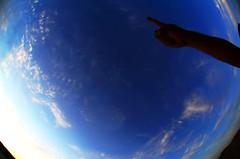 Happy Blue Monday!! (MelindaChan ^..^) Tags: china blue sky fisheye mel round melinda gansu  hbm zhangye  chanmelmel