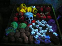 Dia De Los Muertos maze (jericl cat) Tags: party halloween vegetables night skull scary berry farm bin horror maze diadelosmuertos theme cart scare pandulce haunt fright knotts 2011