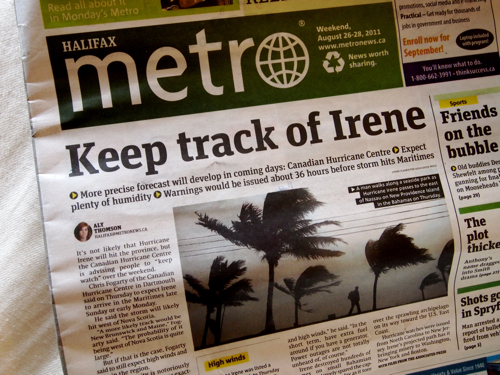 keep track of irene
