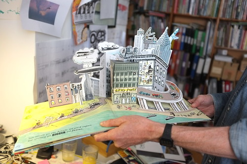 Neal Layton with his pop-up book