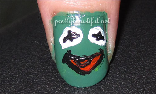 Kermit the frog nail art