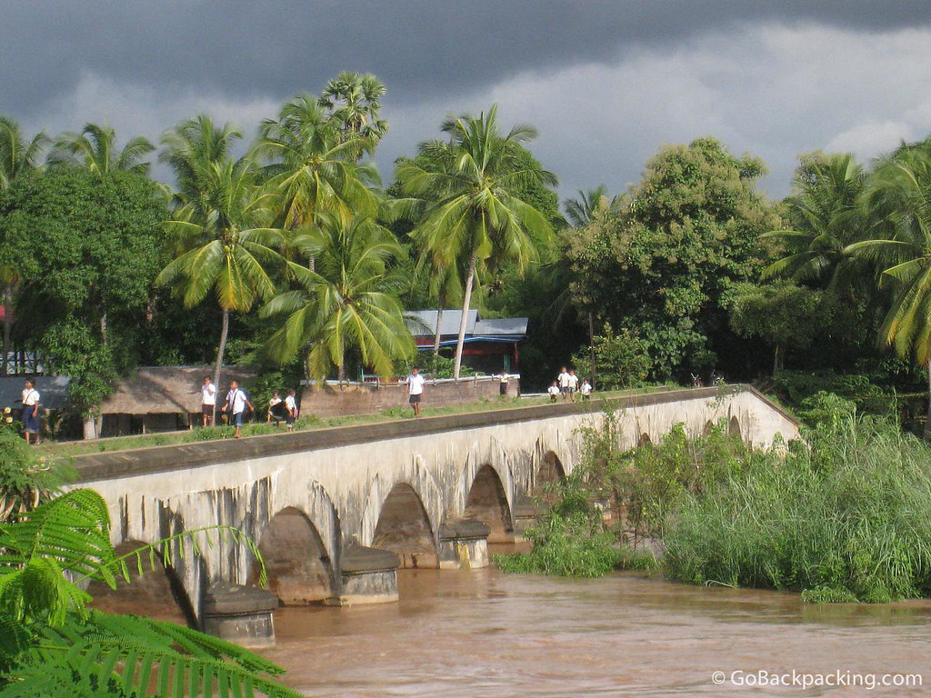 Bridge in southern Laos