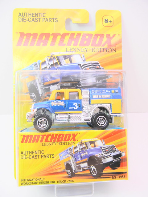 matchbox lesney international workstar brush fire truck 2007