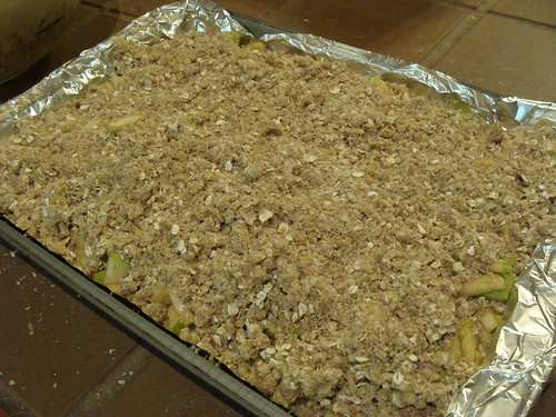 Caramel Apple Cheesecake Bars, before baking