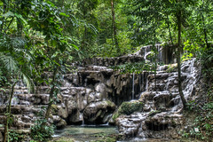 In the jungle (Guy Prives) Tags: travel trees tree green nature water horizontal forest canon landscape mexico outdoors waterfall rocks day atmosphere nopeople jungle impact palenque 1750 tamron chiapas hdr freshness centralamerica frontview absence colorimage
